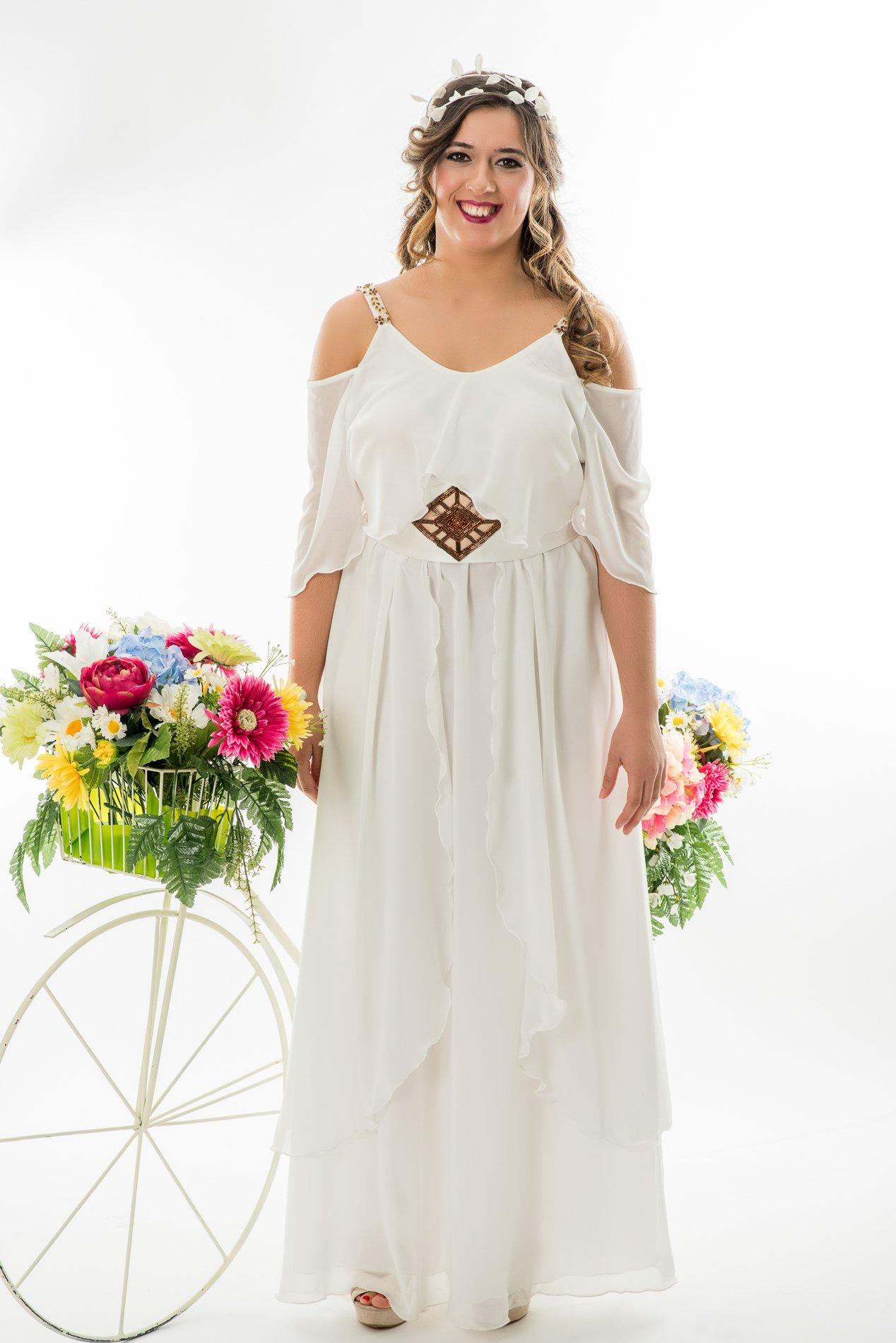 Vestidos blancos ibicencos tallas grandes